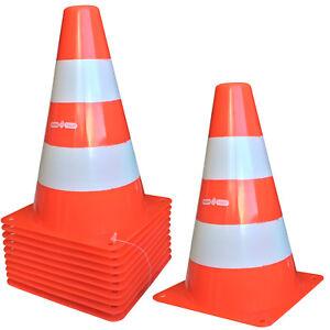 10 x Warnleitkegel Hütchen Verkehrshütchen Markierkegel Pylonen Parcourkegel