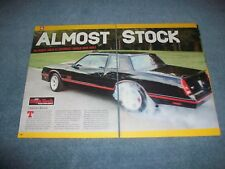 """1988 Chevy Monte Carlo SS RestoMod Article """"Almost Stock"""" Super Sport LS Power"""
