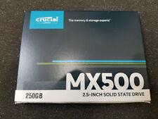 """Crucial SSD MX500 2.5"""" 250GB 3D NAND SATA III 250G Internal CT250MX500SSD1"""