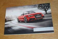 Audi RS5 Cabriolet Brochure 2012-2013 - 4.2 FSI