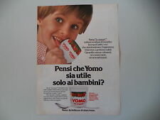 advertising Pubblicità 1980 YOGURT YOMO