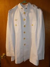 U.S. NAVY WEST POINT CADET WHITE CHOKER JACKET SIZE 42R??  with Pins & Buttons