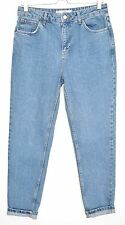 Topshop MOM High Waisted Vintage Blue Tapered Cropped Jeans Size 12 W30 L32