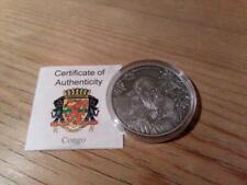 Kongo 1000 Francs 2014 Antique Finish - Gorilla - Silber 1oz - Africa Ounce