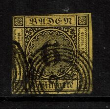 """Baden SC# 9, Used, (Noted as Mi# 7), a """"28?"""" in the cancel - S4144"""