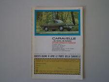 advertising Pubblicità 1963 RENAULT CARAVELLE