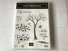 """Stampin' Up! """"Life is Beautiful"""" Photopolymer Stamp Set (Retired) - New"""