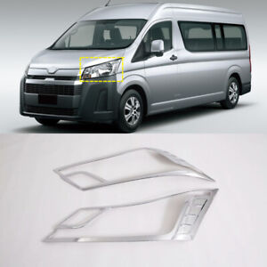 For Toyota HiAce H300 2019 2020 2021 Chrome Front Head Light Lamp Cover Trim