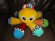 Lamaze Yellow Octotunes Octopus Developmental Squeaky Plush Baby Toy