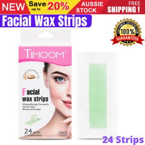24Pcs Hair Removal Facial Wax Strips Eyebrow Waxing Strips Non Woven Wax Papers