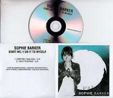 SOPHIE BARKER Start Me/I Do It To Myself 2017 UK 2-trk promo test CD