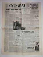 N1200 La Une Du Journal combat  23 septembre 1944 l'armée rouge a Tallinn