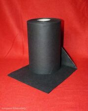 5 mtr x 20 cm wide  Black Embroidery Stabiliser Backing -folded and sent flat