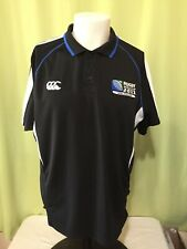 Rugby World Cup 2011 New Zealand Men's Black Polo Shirt Size Xl Canterbury