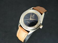 VINTAGE UNIVERSAL GENEVE POLEROUTER GOLD & STEEL AUTOMATIC MICROTOR
