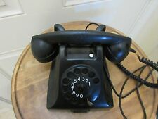 1956 ERICSSON TELEPHONE VINTAGE BLACK BAKELITE HOLLAND PTT DESK TYPE ESTATE FIND