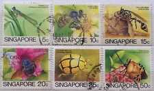 Singapore Used Stamps - 6 pcs 1985 Insects Definitive Stamps