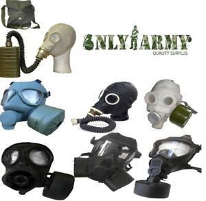 Various Army Gas Masks World Surplus Soviet British NATO S10 M2 M59 GSR FM12