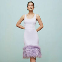 Coast Hannah Lilac Feather Body Contouring Gatsby Stretch Dress 6 8 12 10 14 16