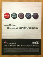 2005 Playstation 2 Coca Cola Contest Vintage Print Ad/Poster Official PS2 Coke