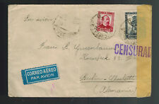 1937  Spain Civil War Censored Cover to Berlin Germany