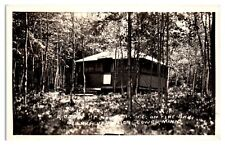RPPC Cabin on Pike Bay, Lake Vermillion, Tower, MN Real Photo Postcard