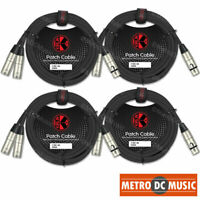4-Pack Kirlin 6ft Splitter Y-Cable XLR Female to 2 XLR Male 3-PIN OFC NEW Y-303
