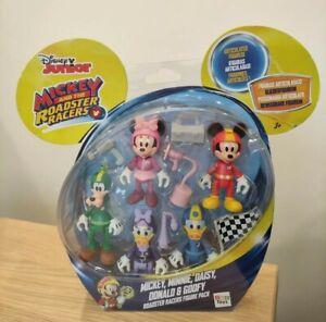 Disney Mickey The Roadster Racers Mickey Minnie Daisy Donald Goofy 5x Figure Set