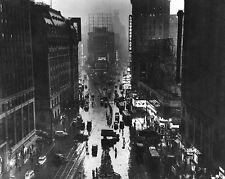 TIMES SQUARE NEW YORK CITY IN RAIN 1930S 8x10 SILVER HALIDE PHOTO PRINT