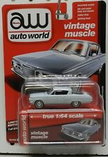 1964 64 PLYMOUTH BLUE CUDA BARRACUDA FISH BABY MOPAR 1/2500 AW AUTO WORLD