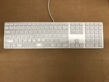 Apple A1243 Aluminium USB Wired Keyboard With Numeric Keypad MB110LL/A
