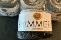 Lion Brand Shimmerie, Eclipse, 252-304,  Bulky (5), 219 Yds; FOUR cakes