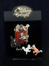 VHTF Disney Auctions Aristocats Marie, Duchess, Dancing Playing Piano 2 Pin Set