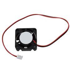 25mm x 10mm 2 Pines DC 12V 0.05A Negro Mini Ventilador de enfriamiento de p W5X2