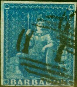 Barbados 1855 Pale Blue SG9 Fine Used