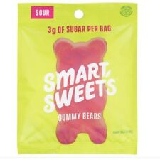 Keto Candy: Smart Sweets SOUR GUMMY BEARS 6 pack (7 carbs per serving)