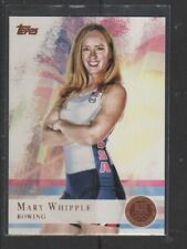 MARY WHIPPLE - 2012 OLYMPICS ROWING - BRONZE MEDALLION -  TOPPS #7