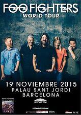 "Foo Fighters ""World Tour"" 2015 Spain Concert Poster - Alt/Hard Rock Music"