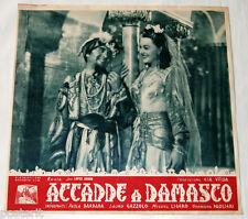 fotobusta originale ACCADDE A DAMASCO Paola Barbara Miguel Ligero 1943 #1