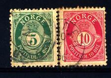 NORWAY - NORVEGIA - 1893-1905 - Tipi del 1877 con la scritta in caratteri romani