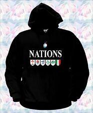 FELPA 6 NAZIONI RUGBY sei italia all blacks polo nations maglietta t-shirt sei