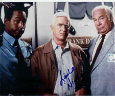 LESLIE NIELSEN SIGNED COLOR 8X10 PHOTO COA + PROOF!!
