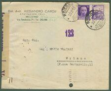 REPUBBLICA SOCIALE ITALIANA. Lettera del 22.2.1944 da Brienno (Como) per Milano.