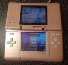 Pink Nintendo DS Phat NTR-001 Handheld Console (Parts or Repair: Broken Hinges)