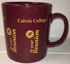 CALVIN COLLEGE KNIGHTS 10Yr Reunion Coffee Cup Mug Grand Rapids Michigan England