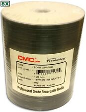 100-Pak CMC PRO (TY Technology) 8X White Inkjet Hub 4.7GB DVD+R's in Tapewrap