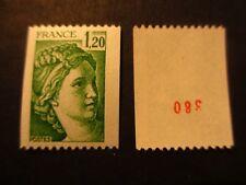 Timbre - FRANCE - Sabine de Gandon 1F20 - n° rouge  - 1980 - neuf ** - n° 2103 a