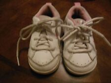 Toddler Girls Pink/White Nike Leather Tennis Shoes, Euc, Sz 5Cw, Laces