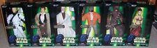 All 6 Star Wars 12 inch POTF 1:6 scale figures: Leia Slave,Luke Storm,Ponda Baba