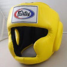 New Fairtex hg 3 full cover style head guard - Protective Boxing Yellow Japan